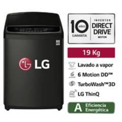 LG - Lavadora LG Carga Superior TurboWash 3D con Steam Lavado a Vapor 19 Kg WT19BSS6H Negra
