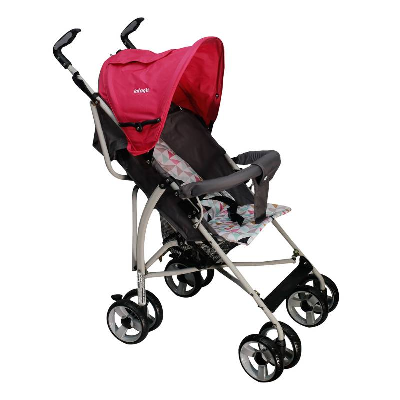 INFANTI - Coche Baston H108 Spin Triangles Pink