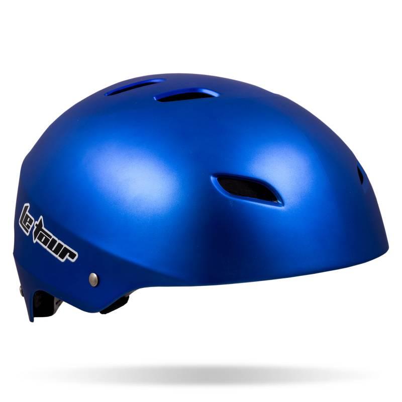 LE TOUR - Casco para Hombre Le Tour Skate 17 Vent. Azul