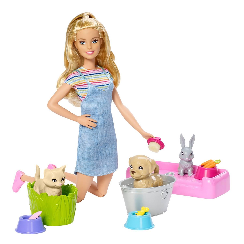 Barbie Muñeca Baño De Perritos Falabella Com