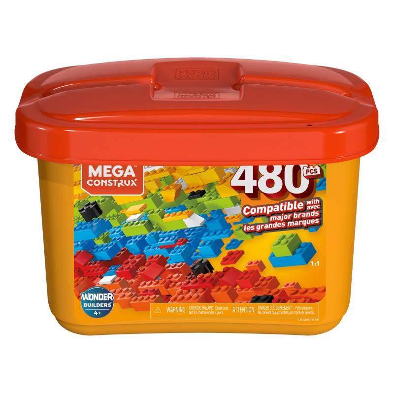 MEGA BLOKS - Mega Caja De Construcción 480 Pzas