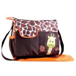 BABY FEES - Bolso Pañalero Animal Print Jirafa Naranja