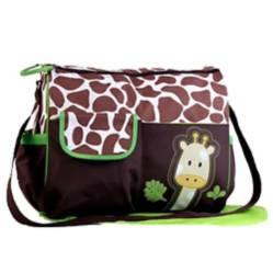 BABY FEES - Bolso Pañalero Animal Print Jirafa Verde