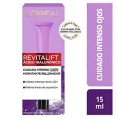 LOREAL - Crema de ojos Revitalift Ácido Hialurónico 15  ml