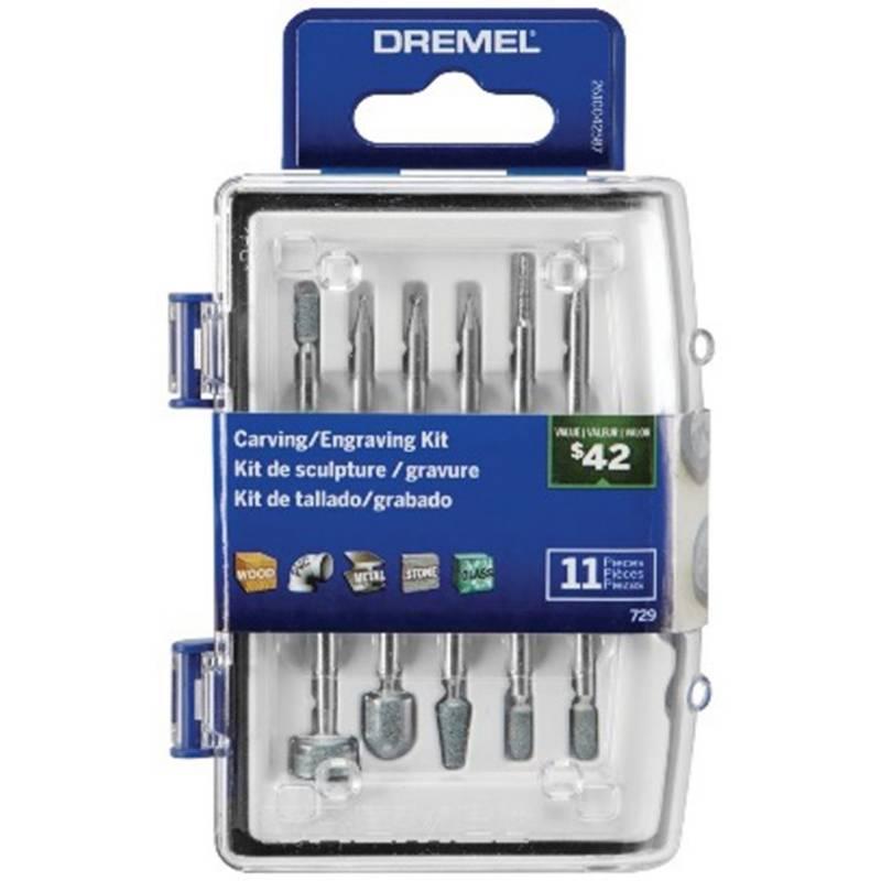 DREMEL - Micro Kit De Acc Para Tallar/Grabar - 11 Accs