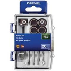 DREMEL - Micro Kit De Accesorios Para Madera - 20 Accs