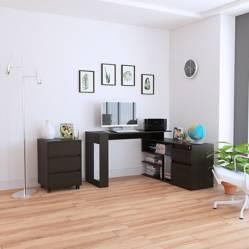 TuHome - Combo Office 11 Escritorio + Archivador - wengue