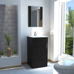 TuHome - Mueble de Lavamanos + Botiquin con Espejo Madrid