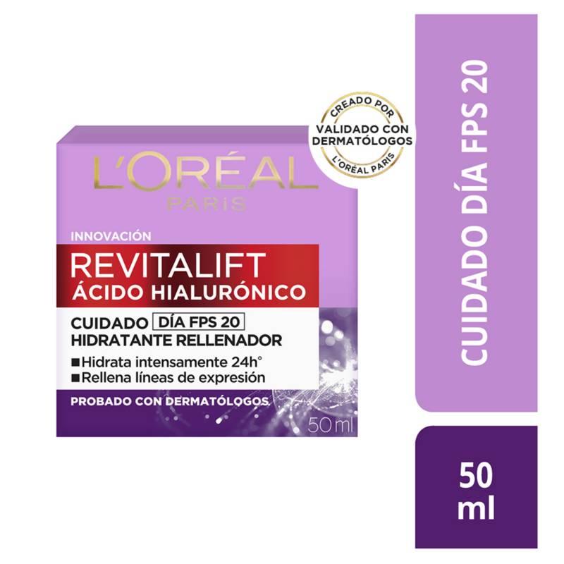 LOREAL - Crema de día Revitalift Ácido Hialurónico 50  ml