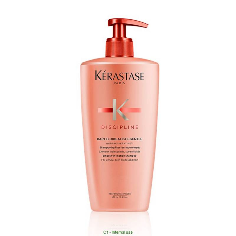 KERASTASE - Shampoo sin Sulfato Discipline para cabello con frizz