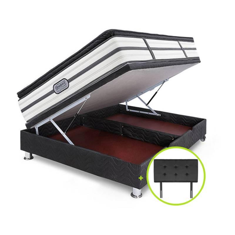 BEAUTYREST SIMMONS - Cama Boxet Practibox Gris Beautyrest Platinum Pt Queen