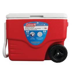 COLEMAN - Cooler 40qt C/Ruedas Rojo
