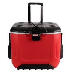 COLEMAN - Cooler 55qt C/Ruedas Rojo/Negr