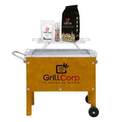 GRILLCORP - Caja China Chica + Parrilla de Varillas + Carbón + Pack Sal