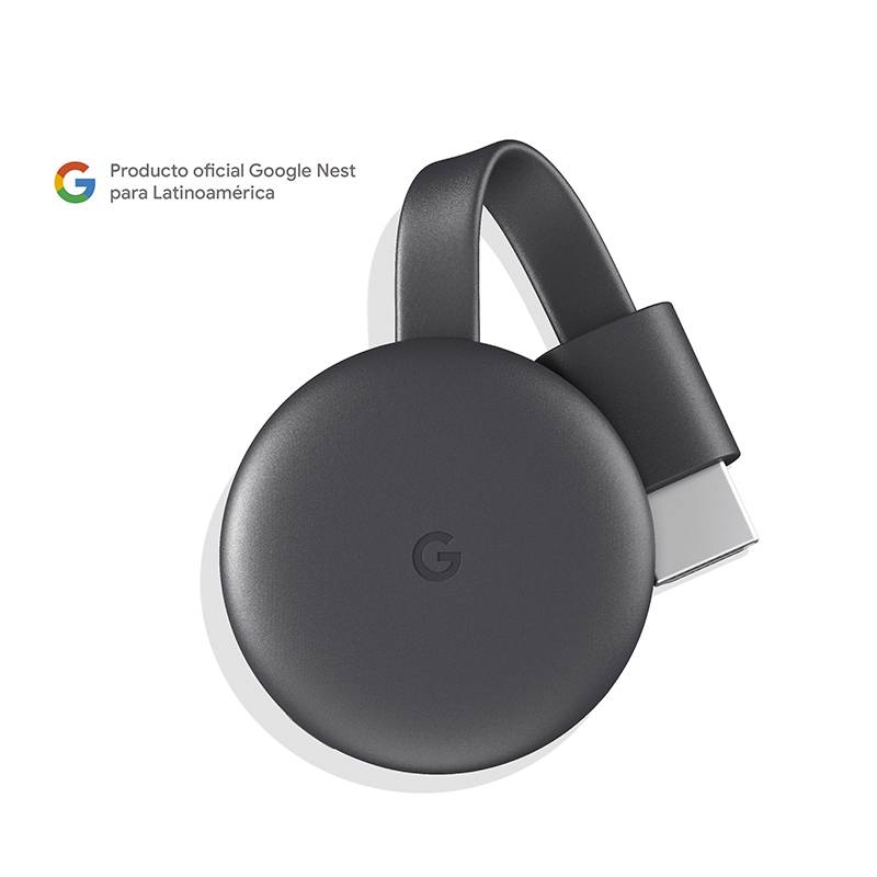 GOOGLE - Google Chromecast 3 Charcoal Gray