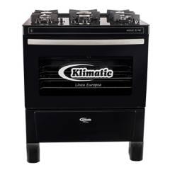 KLIMATIC - Cocina 5 hornillas mesa de vidrio AGILE 5 NE