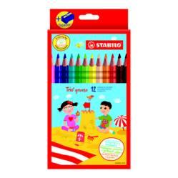 Colores Trio Grueso en Caja x 12