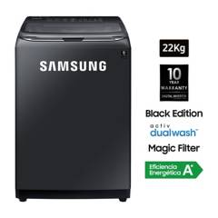 SAMSUNG - Lavadora Black Edition 22 kg WA22R8700GV/PE