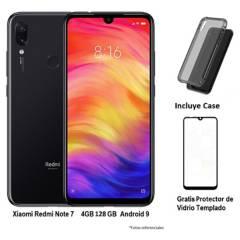 XIAOMI - Xiaomi Redmi Note 7 4/128 Neegro + Case + Gratis Lamina De Vidrio Templado