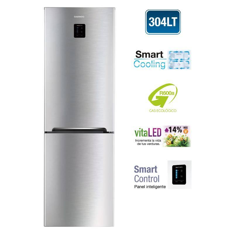 DAEWOO - Refrigeradora 304 L Silver