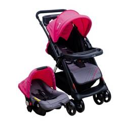SAFETY 1ST - Coche Travel System Rosado C27 + W4