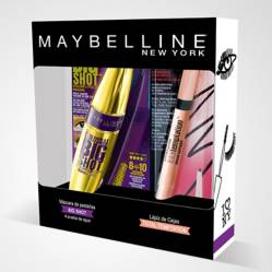 Pack Máscara de Pestañas Big Shot + Delineador de Cejas Total Temptation Maybelline