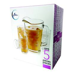 Set x5 Jarra + Vasos Mantel Ensueño