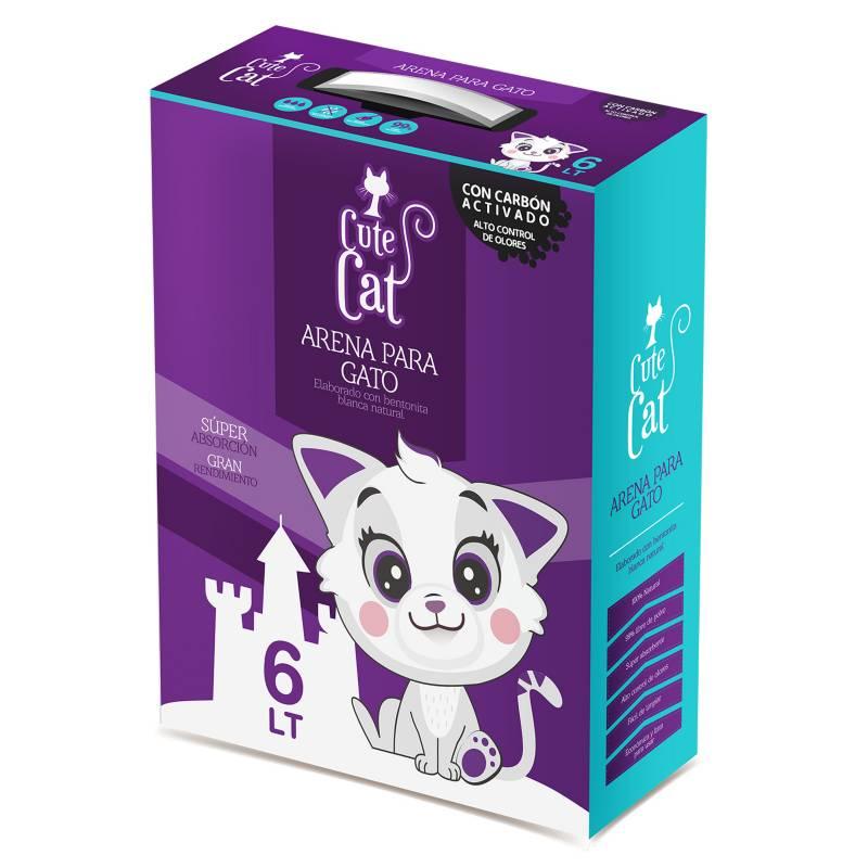 CUTE CAT - Cute Cat 6lt caja carb/act 5k