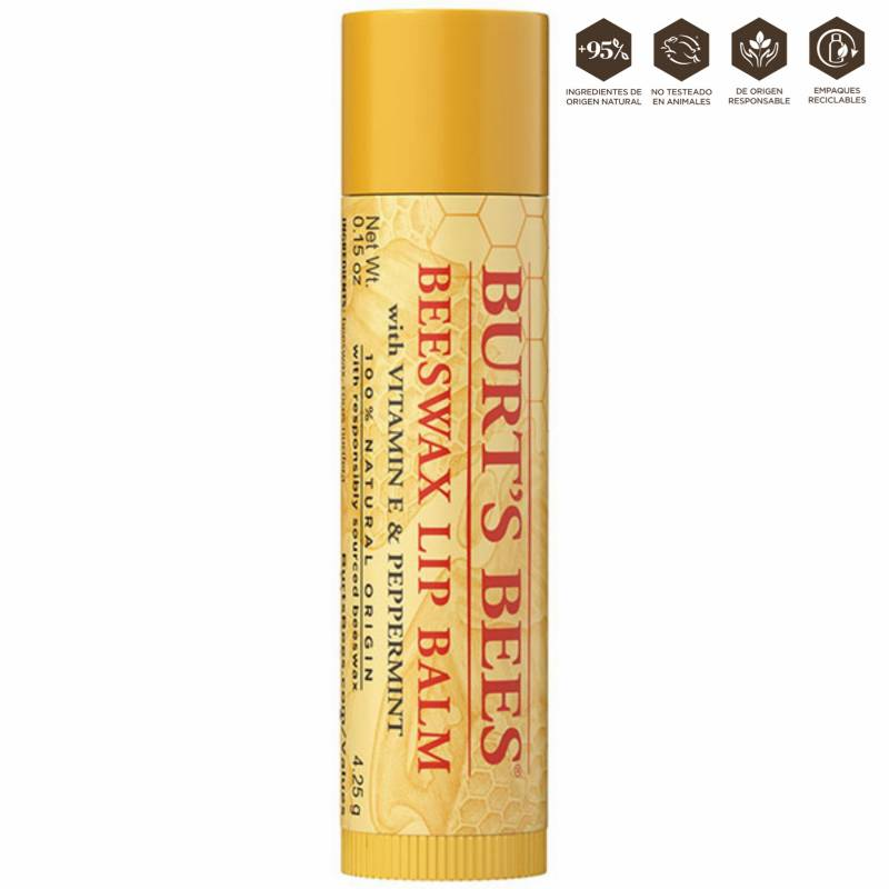 BURT´S BEES - Beeswax Lip Balm Tube - Blister  0.15 Oz  (4.25G)