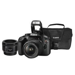 CANON - Combo 50 (Camara Canon T100 Con Lente 18-55mm + Lente Ef 50mm + Maletín)