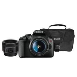 CANON - Combo 51 (Camara Canon T7dc + Con Lente 18-55mm + Lente Ef 50 Mm + Maletín)