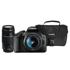 CANON - Combo 52 (Camara Canon T7dc + Lente 18-55mm + Lente Ef 75-300mm + Maletín)