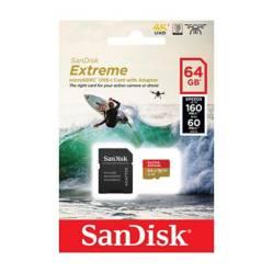 SANDISK - Memoria Micro SD SanDisk Extreme Gopro 64GB UHS-I U3 160Mb/s