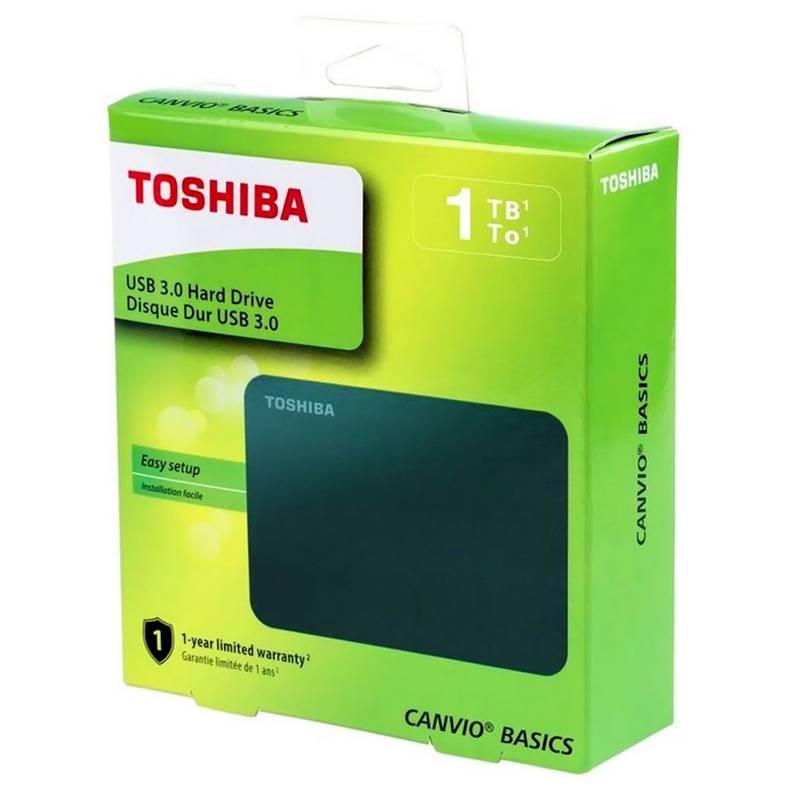 TOSHIBA - Disco Duro Toshiba Capacidad 1TB Canvio Basics - Negro