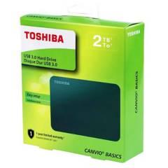 TOSHIBA - Disco Duro Toshiba Capacidad 2TB Canvio Basics - Negro