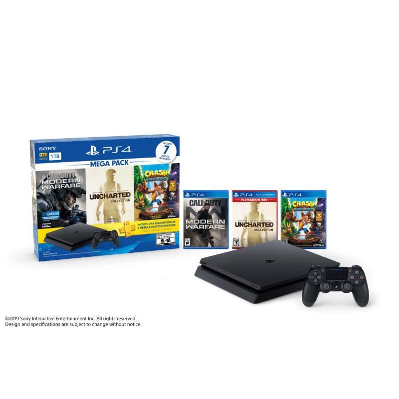 SONY - PS4 HW 1tb Mega Pack 7 BNDL