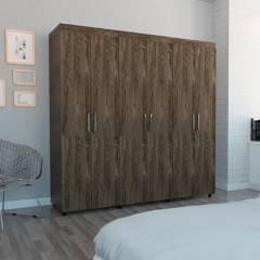 TuHome - Closet Amatista 6 Puertas 2 Cajones