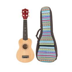 EPIC - Ukelele Colores Natural + Funda Celeste