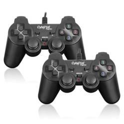 CYBERTEL - Kit De Dos Gamepad Usb Figther Double Blk Cyb G212U-B