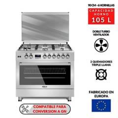 KLIMATIC - Cocina 6 hornillas F9S60GF-SS