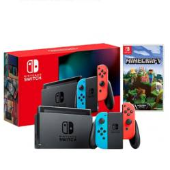 Consola Nintendo Switch 2019 Neon 32GB Bateria Extendida + Minecraft