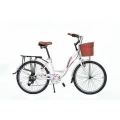 "Monark - Bicicleta Monark Romantic Teen Aro 24"" Gris Claro"