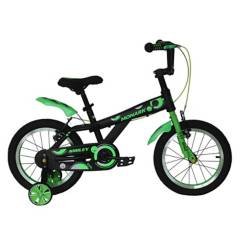 "Monark - Bicicicleta Monark Smiley Aro 16"" Negro Verde"