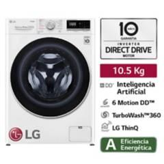 LG - Lavadora LG Carga Frontal con con AI DD Inteligencia Artificial 10.5 Kg WM10WVC4S6 Blanca