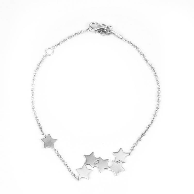 Maisha - Pulseras Estrellas Plata 128