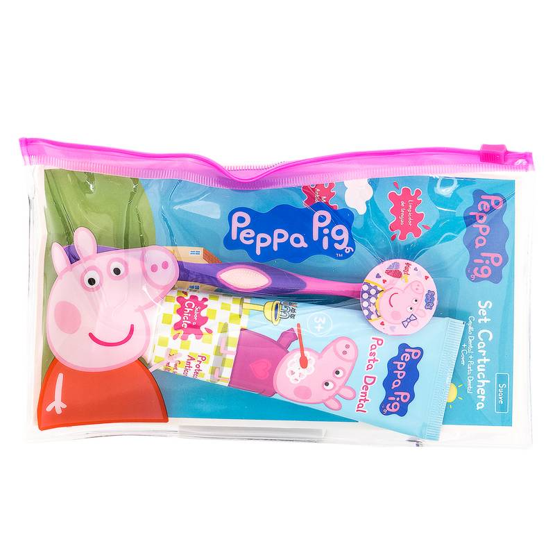 PEPPA PIG - Set Limpieza Oral + Cartuchera