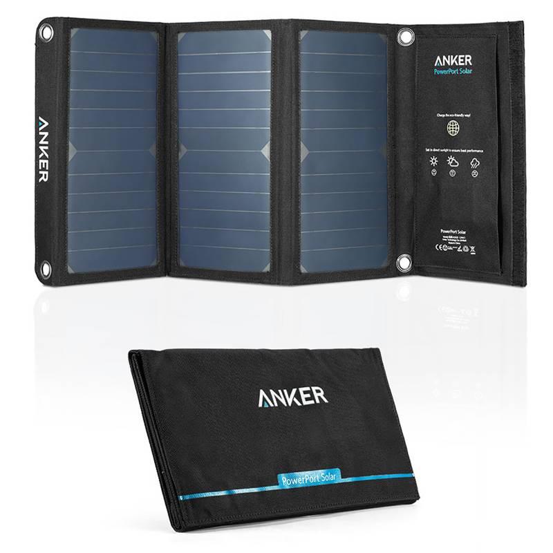 ANKER - 21W Dual USB solar charger UN Black