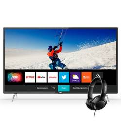 "Televisor LED Smart TV 4K UHD 50"" 50U6295 + Audifonos SHB3075"