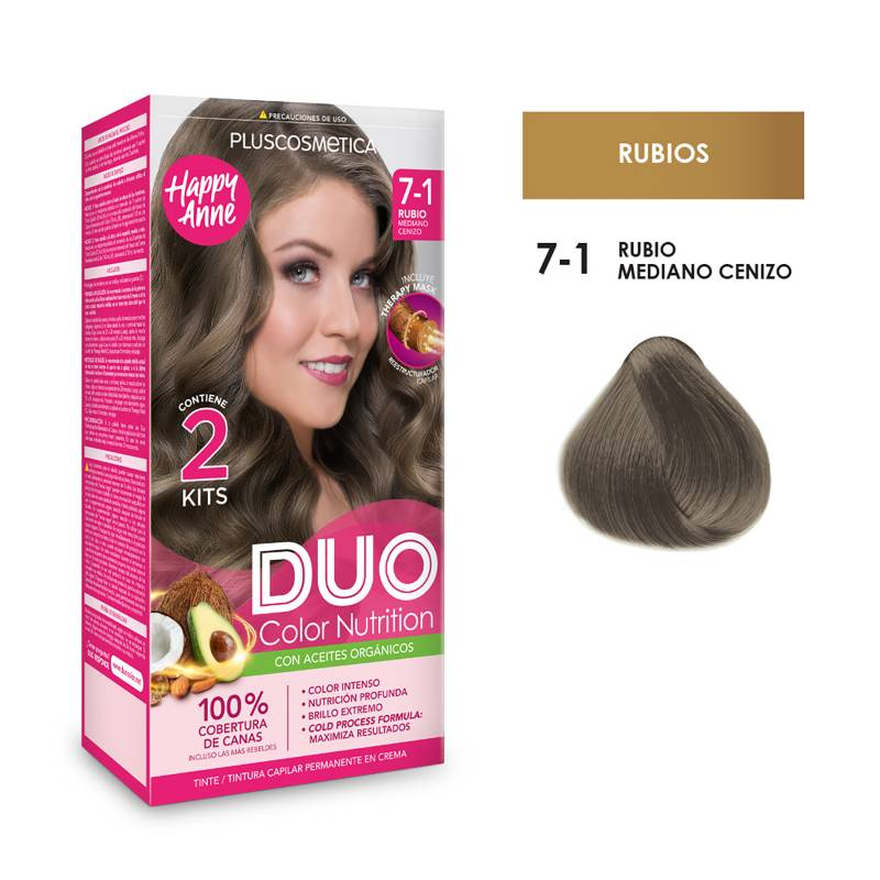 DUO COLOR - Duo Tinte 7-1 Rubio Mediano Cen