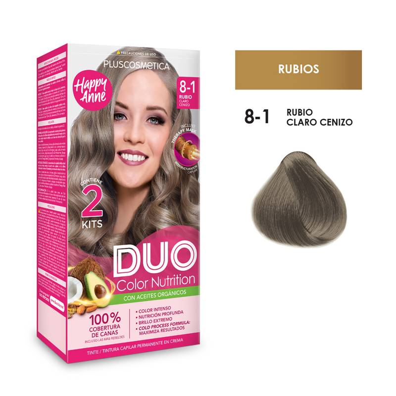 DUO COLOR - Duo Tinte 8-1 Rubio Claro Ceniz